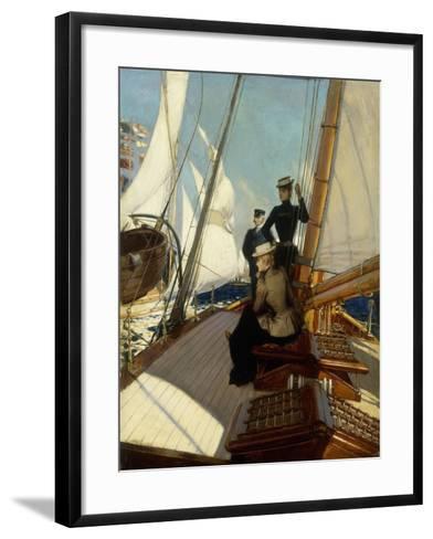 An Afternoon at Sea-Albert Lynch-Framed Art Print