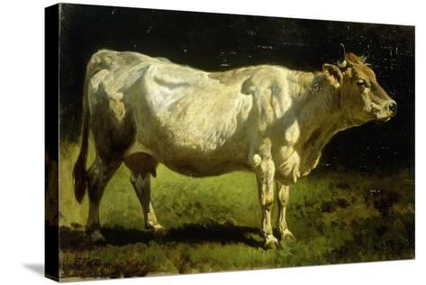 Cow in a Landscape-Friedrich Johann Voltz-Stretched Canvas Print