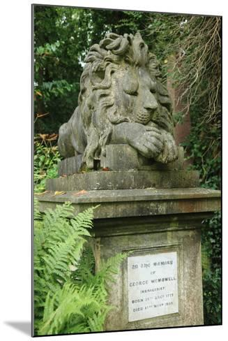 Lion, Highgate West--Mounted Photographic Print