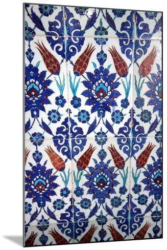 Iznik Tiles, Rustem Pasha Mosque, Istanbul, Turkey--Mounted Photographic Print