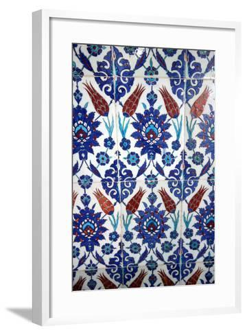 Iznik Tiles, Rustem Pasha Mosque, Istanbul, Turkey--Framed Art Print