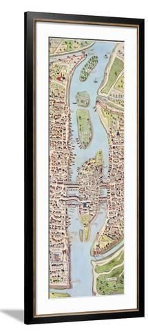 Detail of the Ile De La Cité, from the Map of Paris C. 1540, known as the 'Plan De La…-Caroline Naudet-Framed Art Print