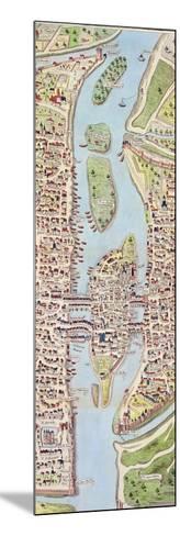 Detail of the Ile De La Cité, from the Map of Paris C. 1540, known as the 'Plan De La…-Caroline Naudet-Mounted Giclee Print