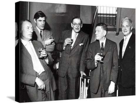 Louis Mac Neice, Ted Hughes, T.S. Eliot, W.H. Auden, Stephen Spender, 1960--Stretched Canvas Print