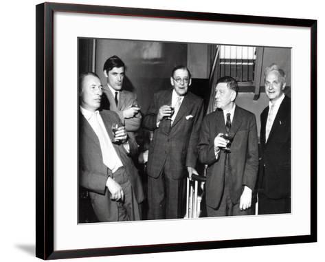 Louis Mac Neice, Ted Hughes, T.S. Eliot, W.H. Auden, Stephen Spender, 1960--Framed Art Print