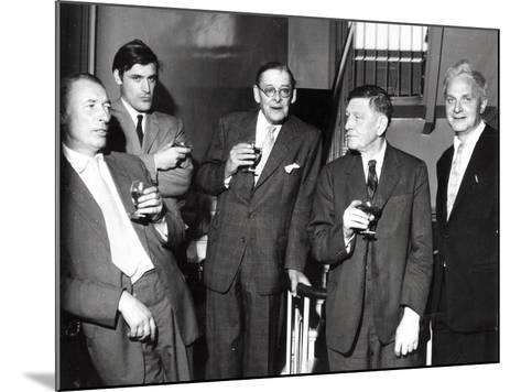 Louis Mac Neice, Ted Hughes, T.S. Eliot, W.H. Auden, Stephen Spender, 1960--Mounted Photographic Print