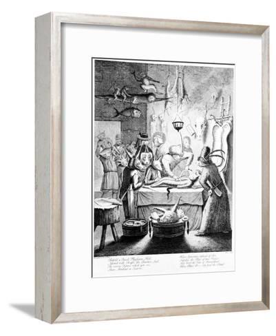 Behold a Quack Physicians Hall...', Engraved by William Henry Toms, 1730-Egbert Van Heemskerck-Framed Art Print