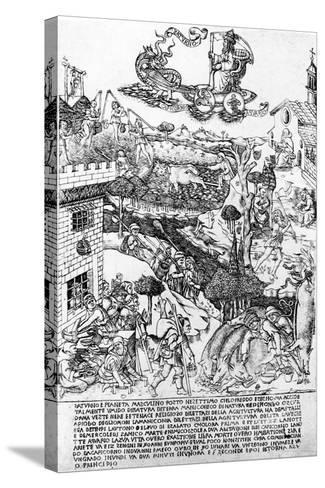 Saturn, C.1464-Baccio Baldini-Stretched Canvas Print