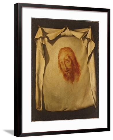 The Veil of Saint Veronica-Francisco de Zurbar?n-Framed Art Print