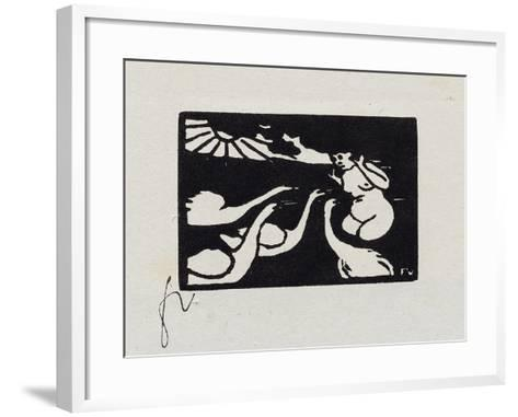 Bather with Swans, X from 'Les Petites Baigneuses', 1893-F?lix Vallotton-Framed Art Print