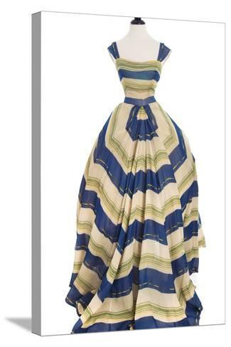 Martinique', a Striped Organza Ball Gown, Christian Dior, 1948-49--Stretched Canvas Print