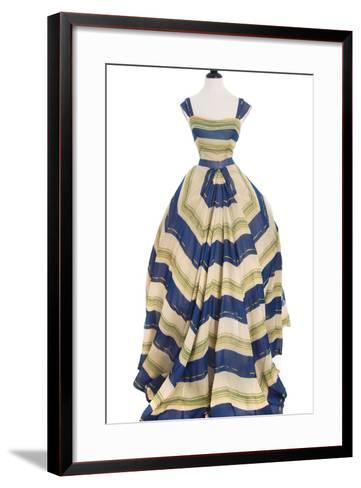 Martinique', a Striped Organza Ball Gown, Christian Dior, 1948-49--Framed Art Print