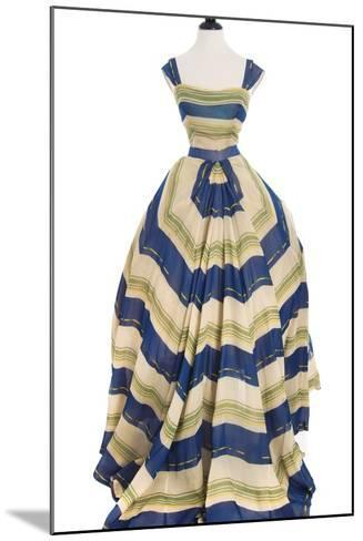 Martinique', a Striped Organza Ball Gown, Christian Dior, 1948-49--Mounted Photographic Print
