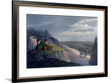 Badger Catching, 1820-Henry Thomas Alken-Framed Art Print