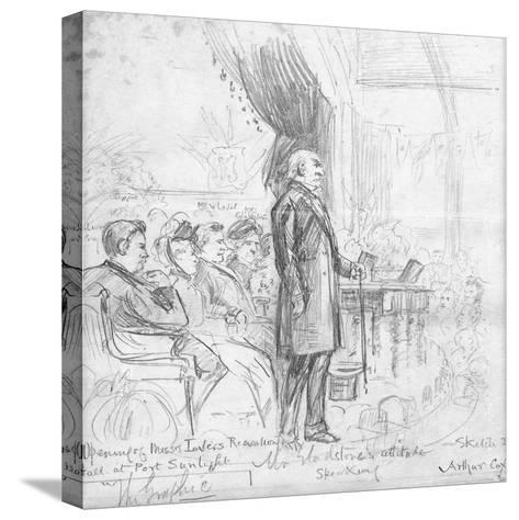 Mr Gladstone's Attitude Speaking, 1891-Charles A. Cox-Stretched Canvas Print
