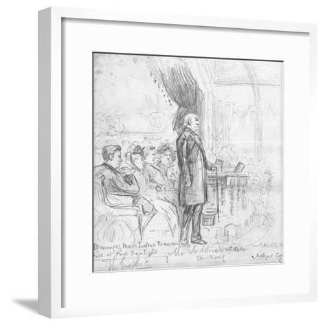 Mr Gladstone's Attitude Speaking, 1891-Charles A. Cox-Framed Art Print