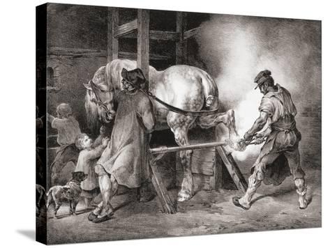 The Farrier, from Etudes De Cheveaux, 1822-Th?odore G?ricault-Stretched Canvas Print