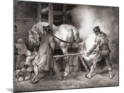 The Farrier, from Etudes De Cheveaux, 1822-Th?odore G?ricault-Mounted Giclee Print