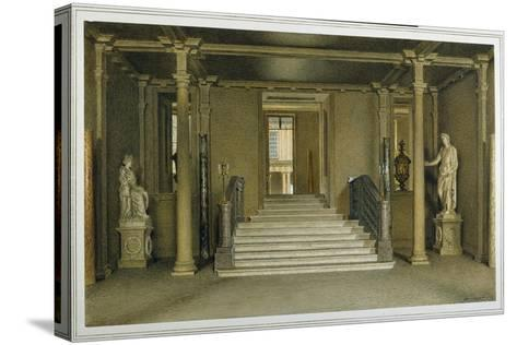 North Entrance Hall at Chatsworth House-William Henry Hunt-Stretched Canvas Print