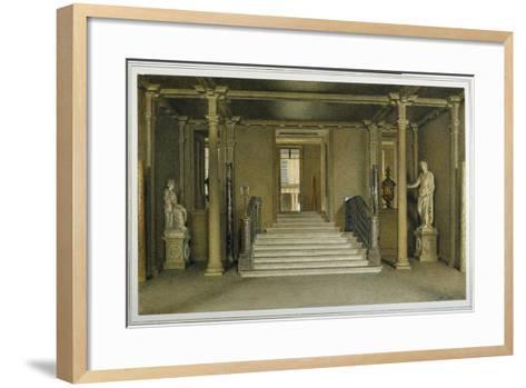 North Entrance Hall at Chatsworth House-William Henry Hunt-Framed Art Print