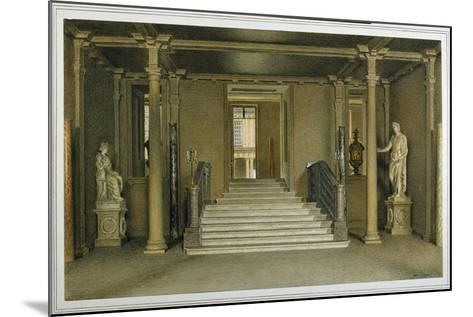North Entrance Hall at Chatsworth House-William Henry Hunt-Mounted Giclee Print