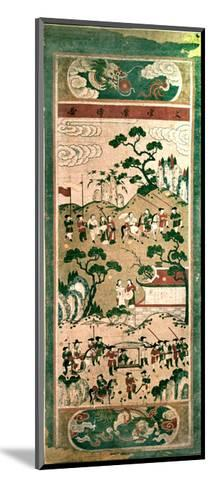 "A Painted Scroll in the Chinese Style Depicting "" the Festive Return of the Civil Servant""--Mounted Giclee Print"