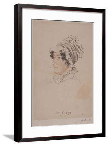 Mrs Hannah Gregory-William Henry Hunt-Framed Art Print
