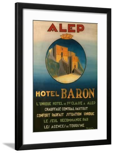 Poster Advertising the Baron Hotel in Aleppo, C.1920--Framed Art Print