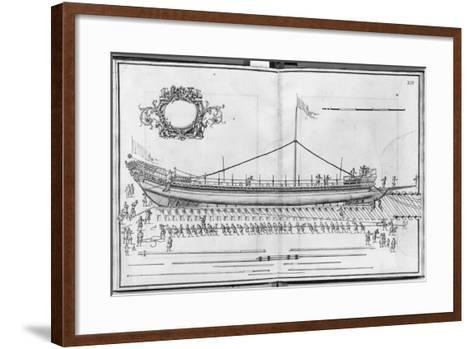 Building, Equipping and Launching of a Galley, Plate Xiv-French School-Framed Art Print