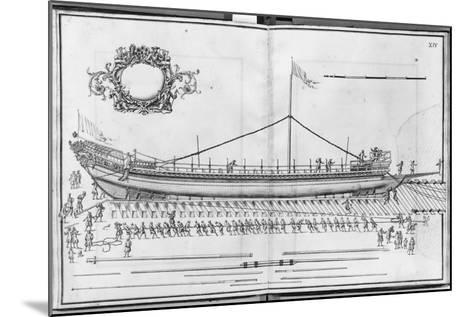 Building, Equipping and Launching of a Galley, Plate Xiv-French School-Mounted Photographic Print