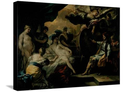 Zeuxis and the Maidens of Croton-Francesco Solimena-Stretched Canvas Print
