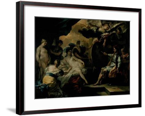 Zeuxis and the Maidens of Croton-Francesco Solimena-Framed Art Print