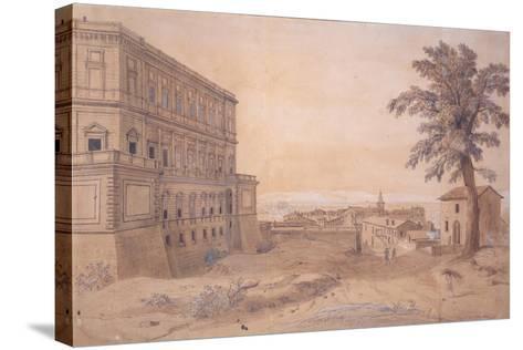 The Palazzo Farnese at Caprarola-Gaspar van Wittel-Stretched Canvas Print