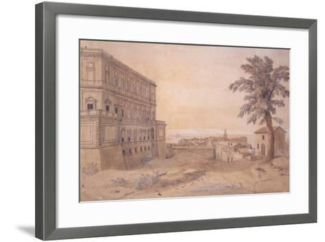 The Palazzo Farnese at Caprarola-Gaspar van Wittel-Framed Art Print