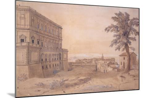 The Palazzo Farnese at Caprarola-Gaspar van Wittel-Mounted Giclee Print
