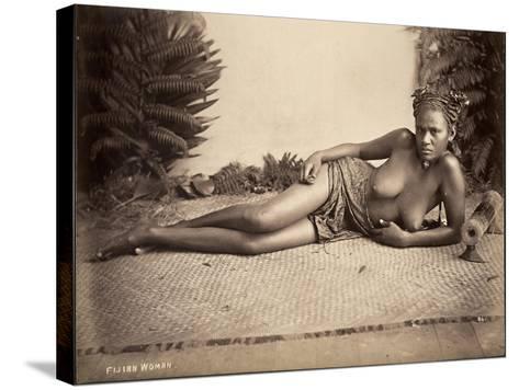 Fijian Woman--Stretched Canvas Print