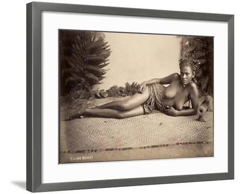 Fijian Woman--Framed Art Print