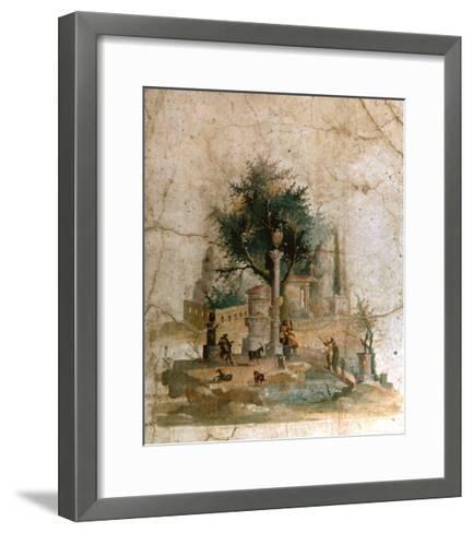A Fresco from the Villa of Agrippa Postumus at Boscotrecase, Pompeii--Framed Art Print
