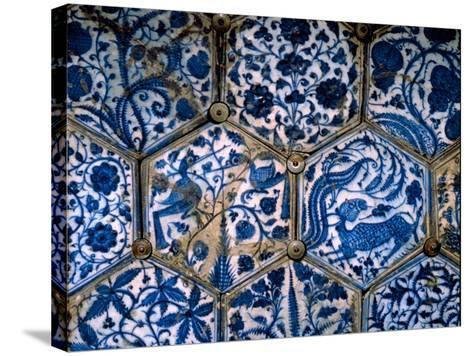 Mismatched Iznik Style Tiles from a Wall Panel--Stretched Canvas Print