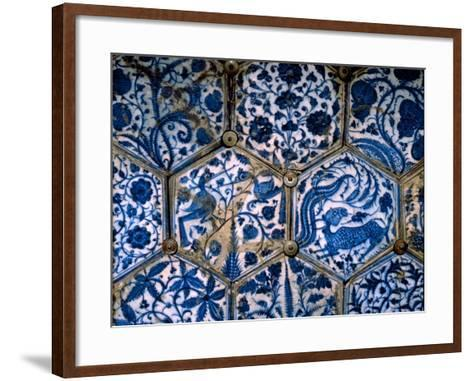 Mismatched Iznik Style Tiles from a Wall Panel--Framed Art Print