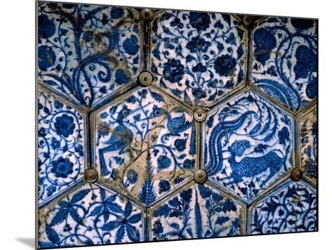 Mismatched Iznik Style Tiles from a Wall Panel--Mounted Giclee Print
