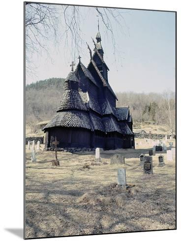 Stave Church at Fagusnes, Borgund--Mounted Giclee Print