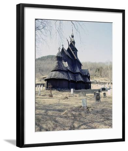 Stave Church at Fagusnes, Borgund--Framed Art Print