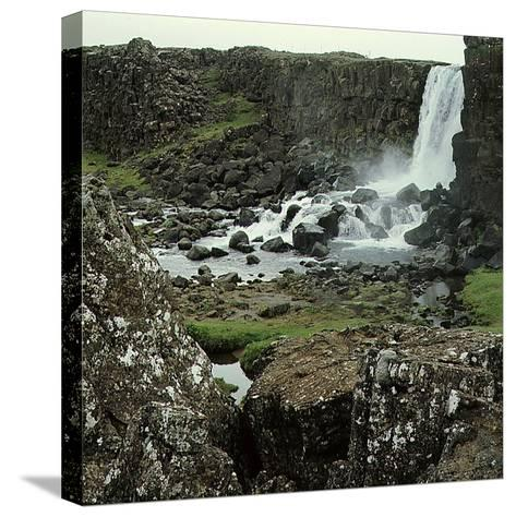 Thingvellir, 'Parliament Plains', Where the National Assembly, Althing, Met--Stretched Canvas Print