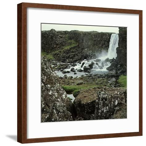 Thingvellir, 'Parliament Plains', Where the National Assembly, Althing, Met--Framed Art Print