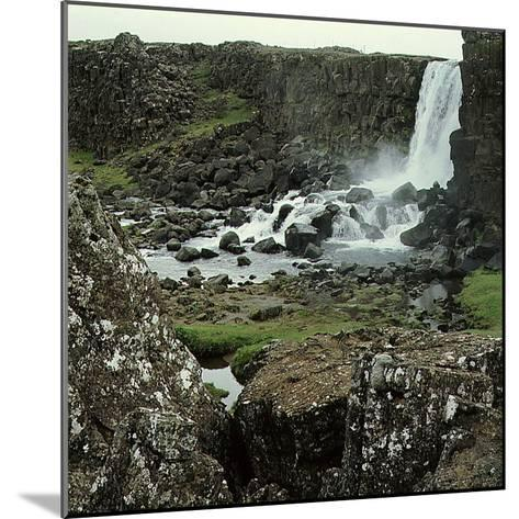 Thingvellir, 'Parliament Plains', Where the National Assembly, Althing, Met--Mounted Giclee Print