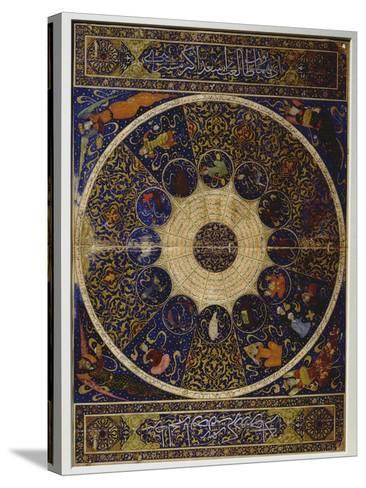 """Horoscope of Prince Iskandar, Grandson of Tamerlane (Timur) from """"The Book of the Birth of…--Stretched Canvas Print"""