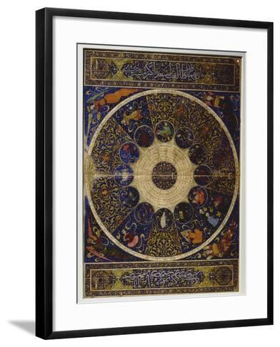 "Horoscope of Prince Iskandar, Grandson of Tamerlane (Timur) from ""The Book of the Birth of…--Framed Art Print"