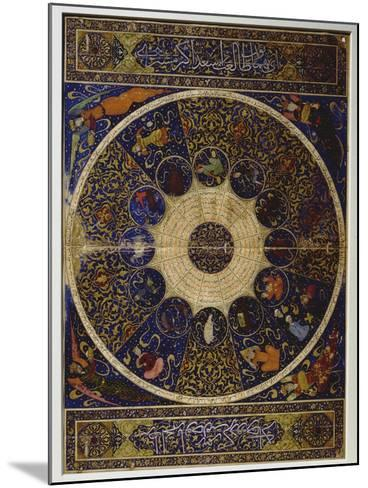 """Horoscope of Prince Iskandar, Grandson of Tamerlane (Timur) from """"The Book of the Birth of…--Mounted Giclee Print"""