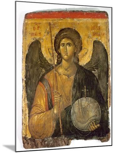 An Icon with the Image of the Archangel St Michael Holding a Staff and a Globe Surmounted by the?--Mounted Giclee Print